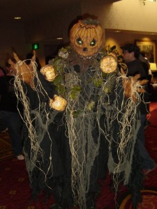 This ambulatory pumpkin patch took a well-deserved second place at Saturday night's costume contest.